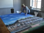 A beautiful way of decoration – murals in the city surfances and as a psychological therapy.